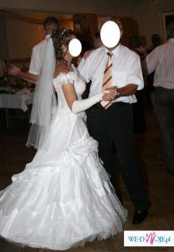Sprzedam suknię ślubną z salonu CYMBELINE PARIS, stan idealny,kolor śnieżnobiały