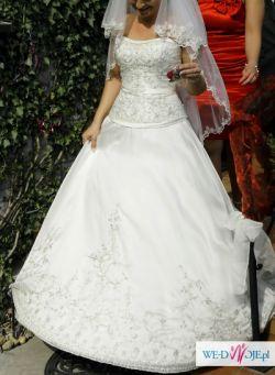 Sprzedam suknię ślubną z trenem amerykańskiej firmy MORI LE 2204