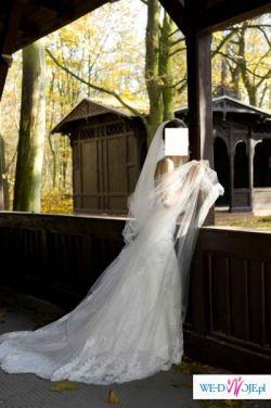 SPRZEDAM suknię ślubną z trenem z kolekcji SAN PATRICK 2008/09 BANCAL