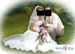 Sprzedam Suknię ślubną z włoskiej koronki+dodatki