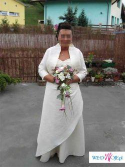 """Sprzedam suknie ślubną zakupioną w firmowym salonie """"Cymbeline""""+bolerko gratis!"""