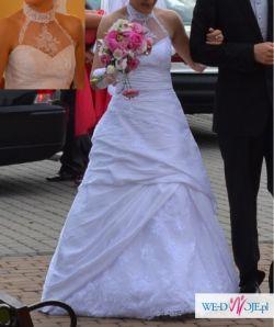 Sprzedam suknię ślubną ze stójką