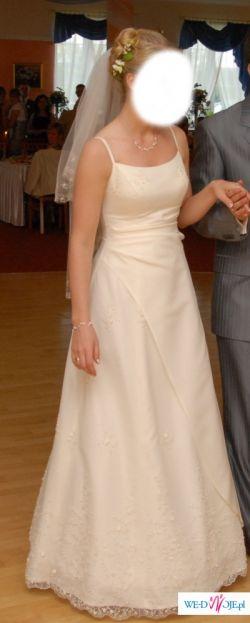Sprzedam suknię ślubnąw kolorze jasny ecri