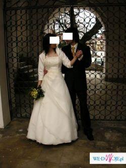 Sprzedam suknię w kolorze ecri, 34-36 na 160cm+9 cm obcas
