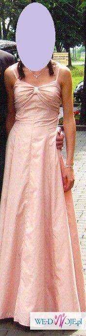 Sprzedam suknię wieczorową o odcieniu pudrowy róż!