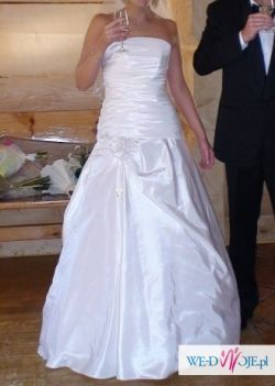 Sprzedam tanio białą suknie ślubną