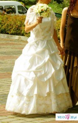 sprzedam tanio ładną suknię ślubną
