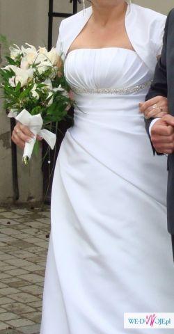 sprzedam tanio piękną suknię slubną 40/42