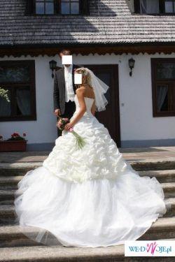 sprzedam tanio piękną suknię ślubną Agnes rozm. 36 kolekcja 2008