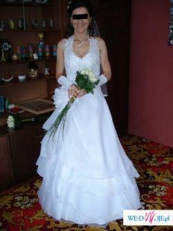 sprzedam tanio piękną suknię ślubną, kolekcja - lato 2007
