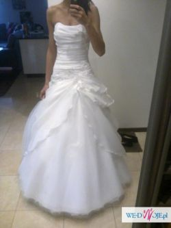 Sprzedam tanio piękną suknię ślubną r.36