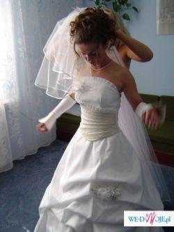 Sprzedam TANIO piękną suknię ślubną w idealnym stanie