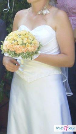 sprzedam tanio przepiękną suknię ślubną.okazja!!!!!!!!