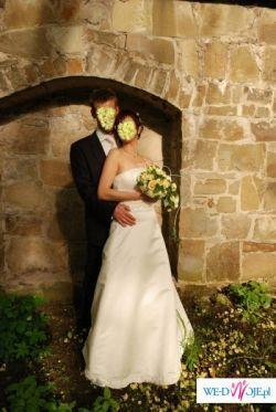 sprzedam tanio śliczną i elegancka suknię ślubną