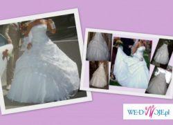 sprzedam tanio śliczną suknię ślubną