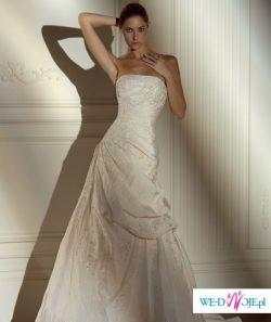 sprzedam uroczą suknie ślubną Madonna Pronovias Nepal model 2008