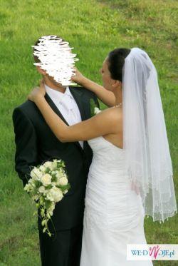 sprzedam welon ślubny w stylu włoskim