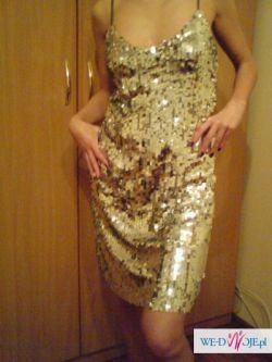 sprzedam włoską sukienkę rozmiar uniwersalny dla świadkowej na wesele