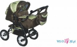 Sprzedam wózek dziecięcy wielofunkcyjny ADBOR Baby Lux oliwkowo-zielony!!!