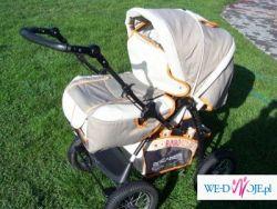 Sprzedam wózek (gondola+spacerówka+nosidełko)
