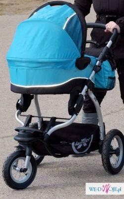 sprzedam wózek xlander xt niebieski spacerówka+ gondola