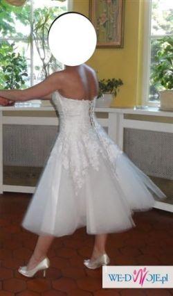 Sprzedam wyjątkową krótką sukienkę ślubną