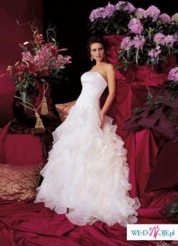Sprzedam wyjątkową suknię ślubną-Justin Alexander 36/38, halka z kołem GRATIS!!!