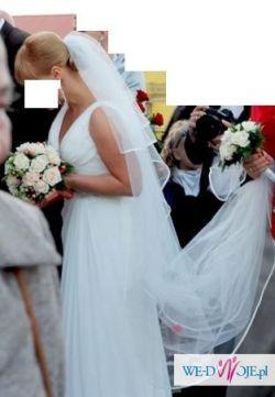 Sprzedam wyjątkową suknię ślubną w stylu empire, zakupioną w salonie Madonna