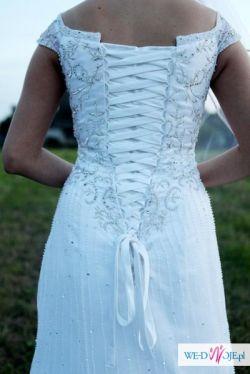 Sprzedam wyszywana ręcznie suknię slubną