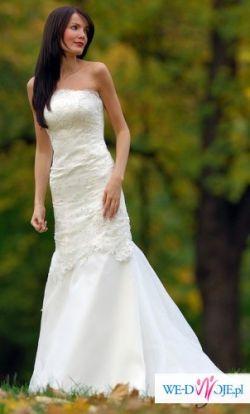 Sprzedam wytworną i elegancką suknię ślubną