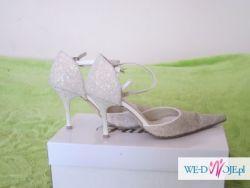 Spzredam buty ślubne roz.36 w kolorze ecru