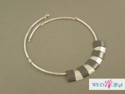 Srebrny naszyjnik z hematytem