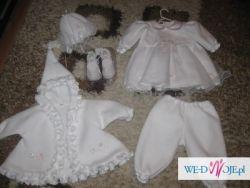 Strój ubranie do chrztu dla dziewczynki 5-części