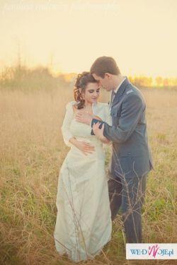 0b208550a5 Stylowa kobieca suknia retro + stroik toczek woal - Suknie ślubne ...