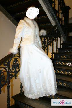 Stylowa, piękna, koronkowa suknia ślubna