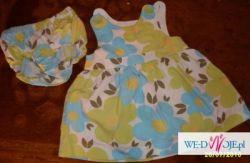Sukieneczka i majteczki H&M, r. 62, wypada na większą