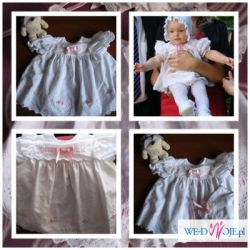 Sukienka , chrzest 3-6m
