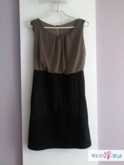 sukienka dwu-kolorowa