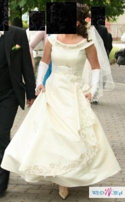 Sukienka ecru, r. 40, Moja wymarzona