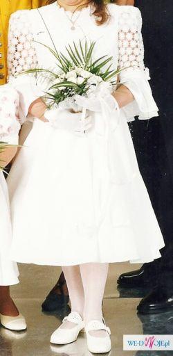 Sukienka komunijna koronka Łódź