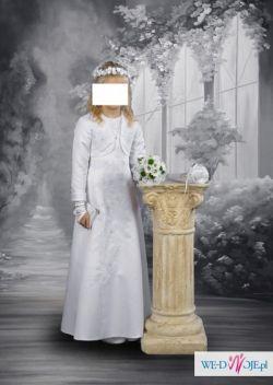 Sukienka komunijna roz 140 + dodatki