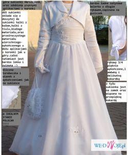 62cd66febf sukienka komunijna rozm.134-146 - Ubranka komunijne - Ogłoszenie ...