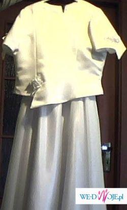 Sukienka komunijna wraz z dodatkami.