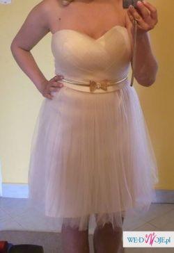 Sukienka kremowa tiul