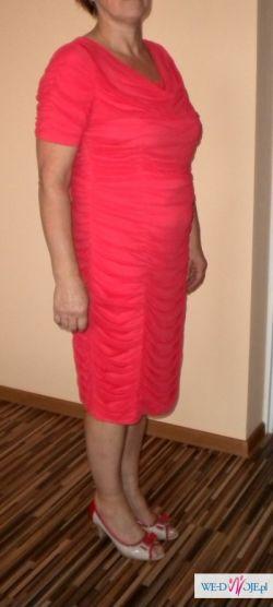 Sukienka malinowa dla pań rozm 44