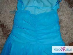 sukienka niebieska weselna rozm. 38
