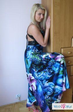 Sukienka projektanta Suleyman Demirel AZOR jedwab