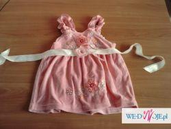 Sukienka różowa 74-80cm