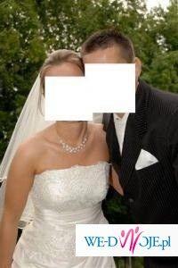 """sukienka ślubna """"AIKO"""" firmy GALA w kolorze ekri, rozm. 36"""
