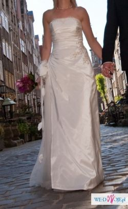 Sukienka ślubna BOLOGNA; klasyczna elegancja